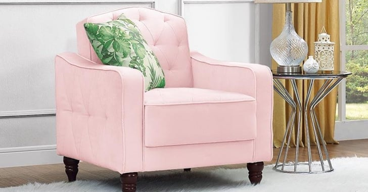 Novogratz Vintage Tufted Accent Chair Review Popsugar Home