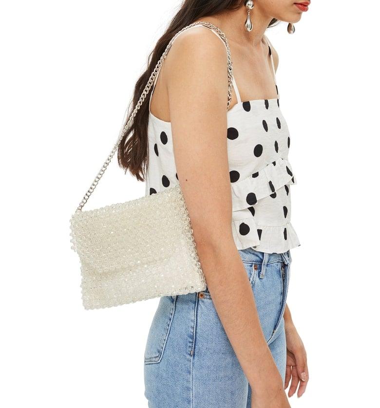 Topshop Zizi Beaded Shoulder Bag
