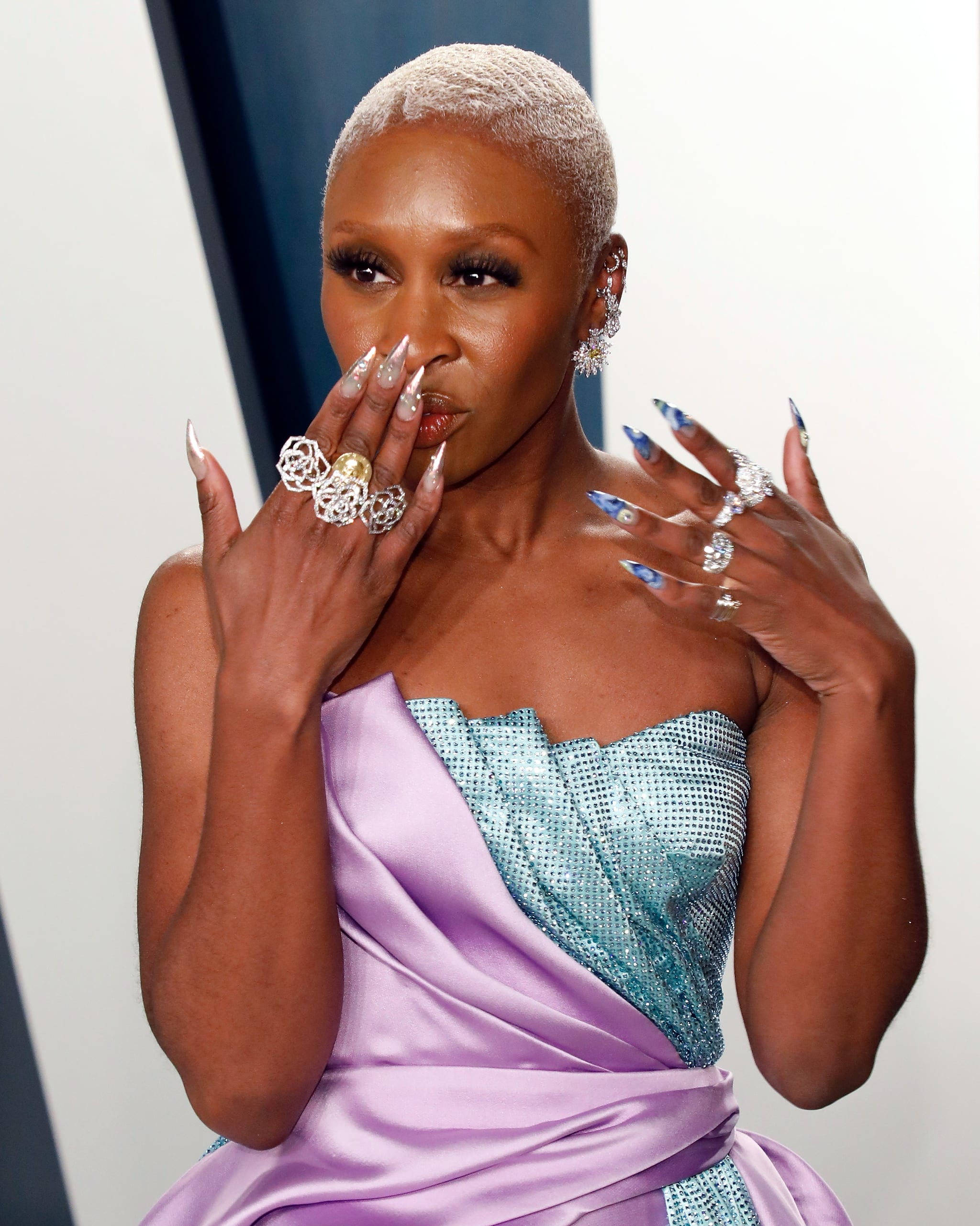 Image result for cynthia erivo 2020 oscar after party