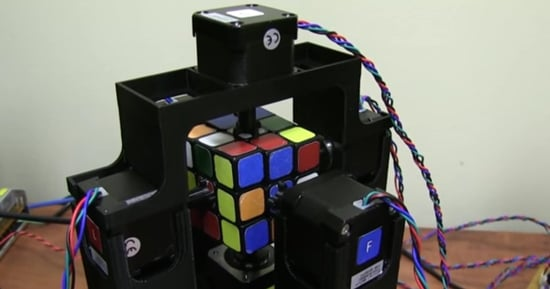 Watch As A Robot Solves A Rubik's Cube In Just 1.019 Seconds