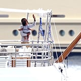 Jay-Z showed Blue the sights from their yacht.