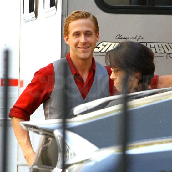 Ryan Gosling looks handsome.