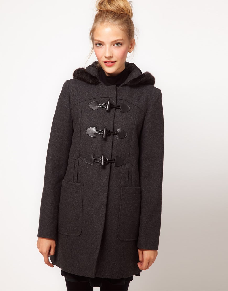 ASOS's Fur-Trim Duffle Coat ($129) is equal parts sweet and sophisticated.