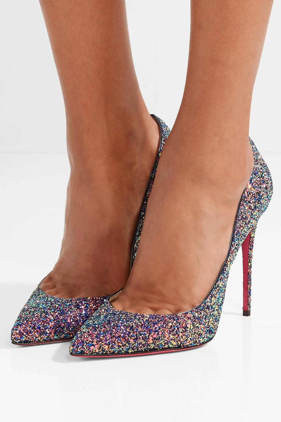 online store 2efe5 b4e3a Christian Louboutin Pigalle Follies Glittered Pumps | These ...