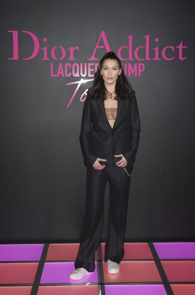 Bella Attended the Dior Addict Lacquer Plump Party