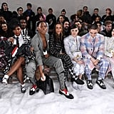 Maisie Williams and Reuben Selby Matching Thom Browne Suits