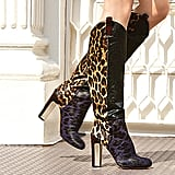 Paradis Leopard-Print Calf-Hair Knee-High Boots ($995)