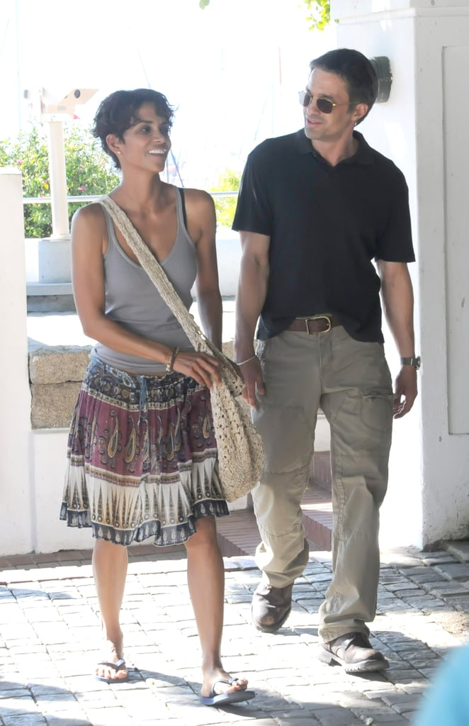 Halle Berry and Olivier Martinez were sweet on the Cape Town, South Africa, set of Dark Tide in August 2010.
