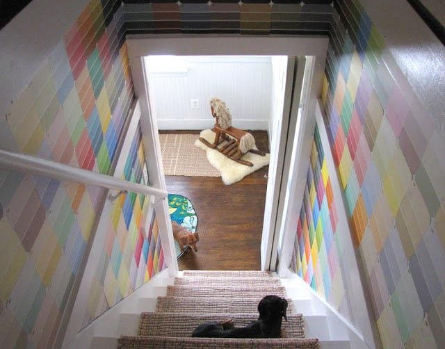Paint Chip Stair Walls