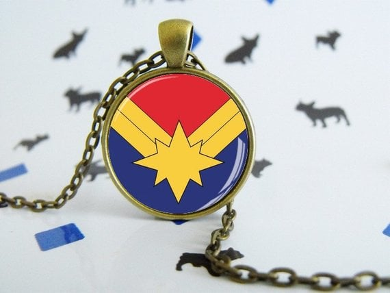 Captain Marvel Necklace