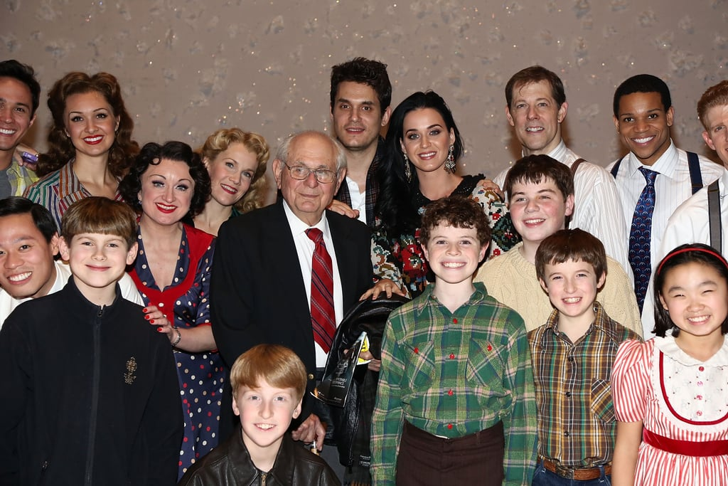 Katy Perry and John Mayer were happy to pose with cast members.