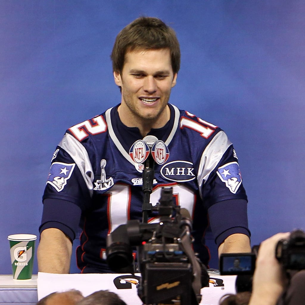Tom Brady in a Patriots uniform.