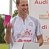 When William Received Pink Wellies For Baby Charlotte