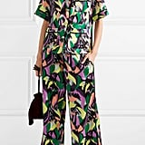 Olivia von Halle Daria Printed Silk-Satin Pajama Set