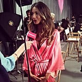 We caught up with Lily Aldridge backstage. Source: Instagram user popsugar
