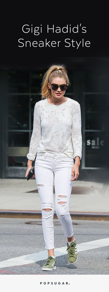 Gigi Hadid Wearing Sneakers
