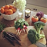 Lea Michele gets fresh-produce deliveries from Good Eggs so that she always has healthy meal ingredients.