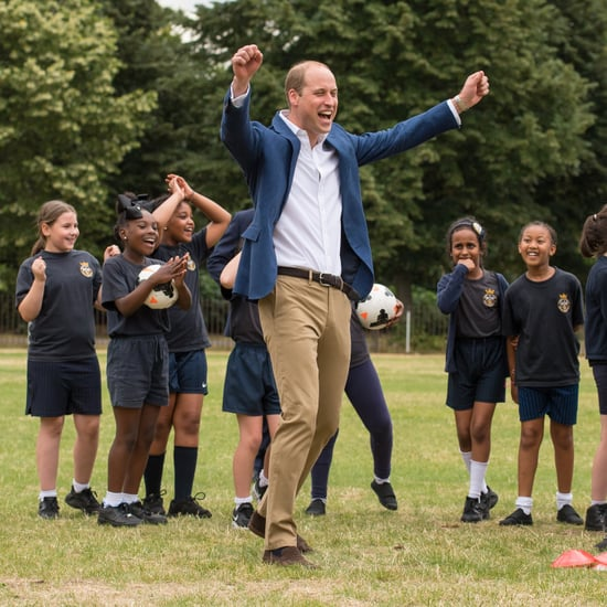 Prince William Playing Soccer With Kids in London July 2017