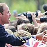 Prince William greeted fans in Singapore.