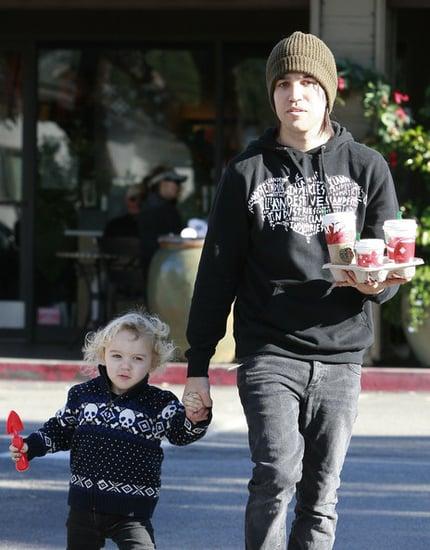 Pete Wentz And Son Bronx Getting Starbucks On Christmas Eve