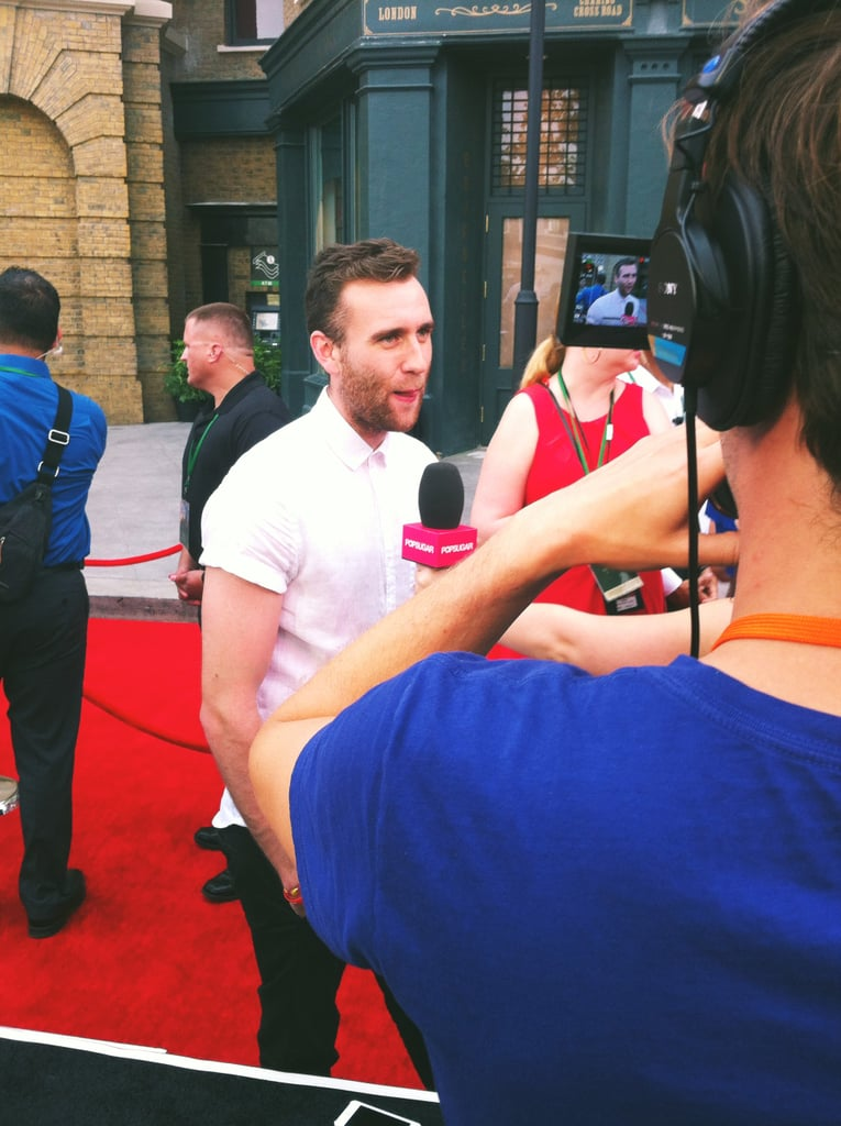 Fans at the park went wild for Matthew Lewis, who has grown into the stud of the franchise since playing the awkward but adorable Neville Longbottom. And yes, he is just as charming as you would imagine he is.