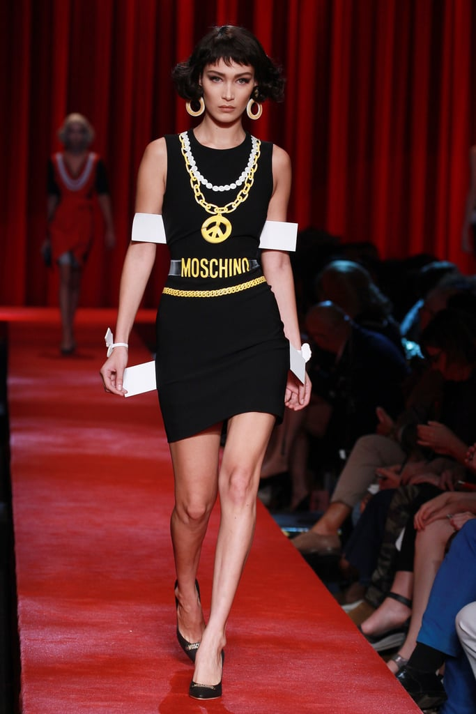 Gigi Hadid Walks Moschino Spring 2017 Runway