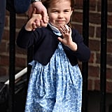 Pictures of Princess Charlotte Waving