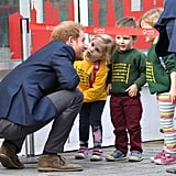 The prince got an adorable kiss from a young fan when he celebrated World Mental Health Day at the London Eye in October.