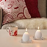 Vinterfest White Cone Unscented Block Candles