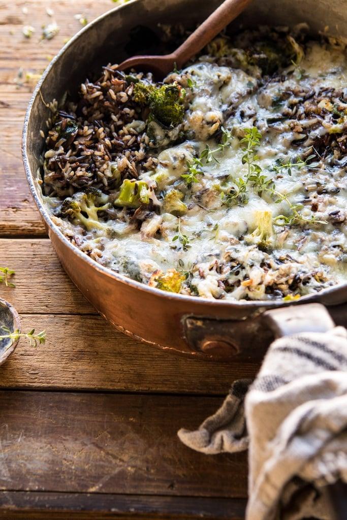 One-Pan Broccoli Cheese Wild Rice Casserole