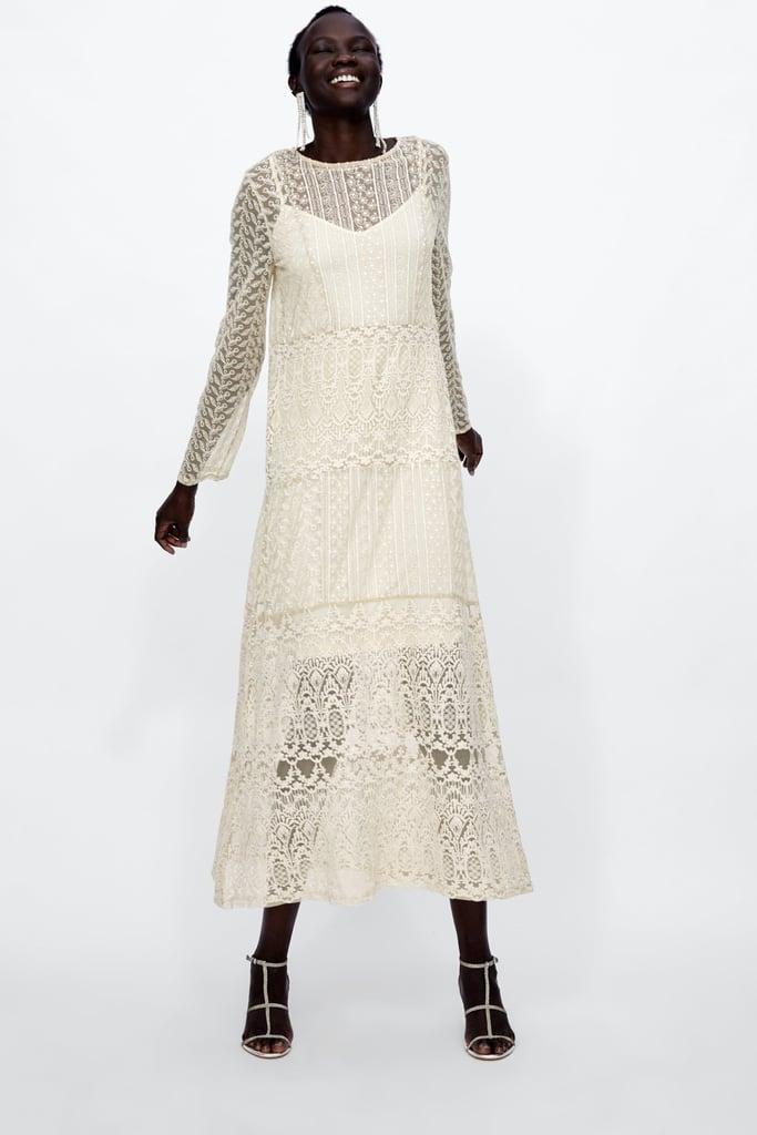 2760030c Zara Long Lace Dress | DIY Halloween Costumes Using a White Dress ...
