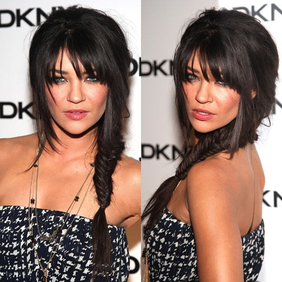 Jessica Szohr's Fishtail Braid at DKNY Sun Soiree