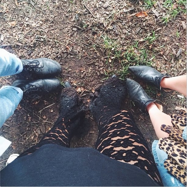 The rain — and, thus, mud — came with a vengeance on Sunday, but style stops for no one.  Source: Instagram user weworewhat