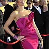 Sofia Vergara posed in hot pink Marchesa to the 2012 SAG Awards.