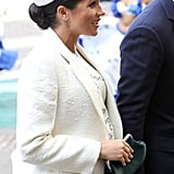 Meghan Markle White Hat at Commonwealth Day