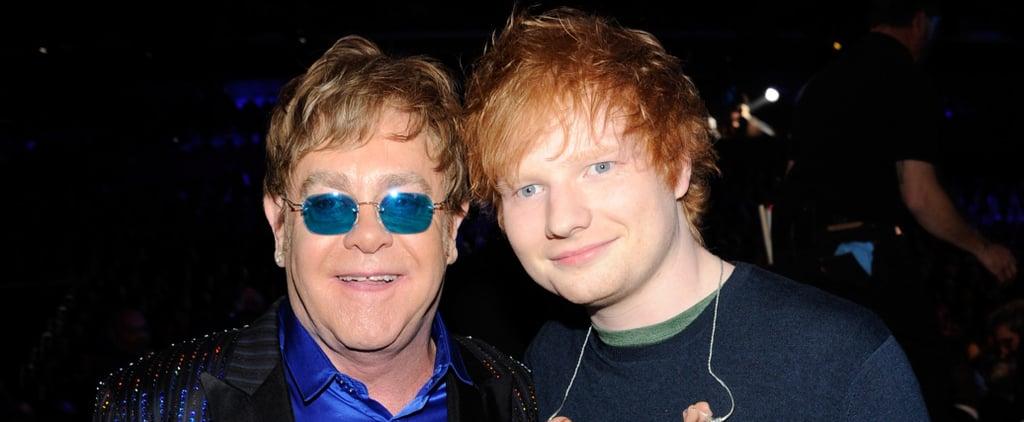 Elton John Pronouncing Ed Sheeran's Name at the Brit Awards