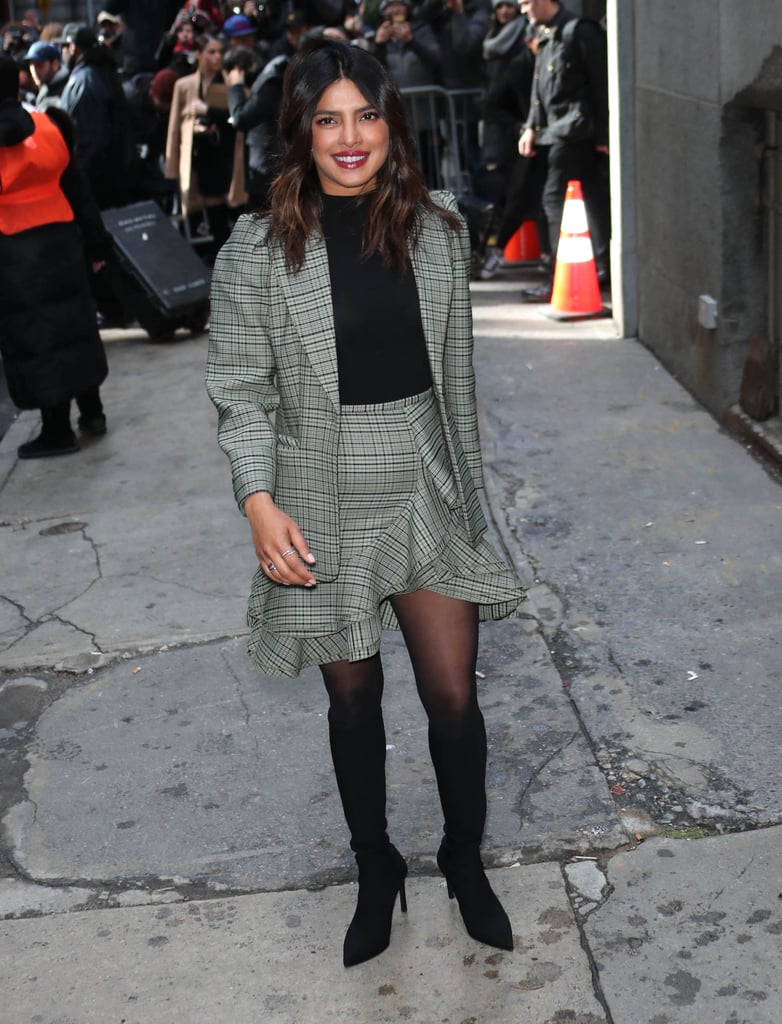 2cd1ab2979f5 Priyanka Chopra Plaid Michael Kors Skirt Suit 2019 | POPSUGAR ...