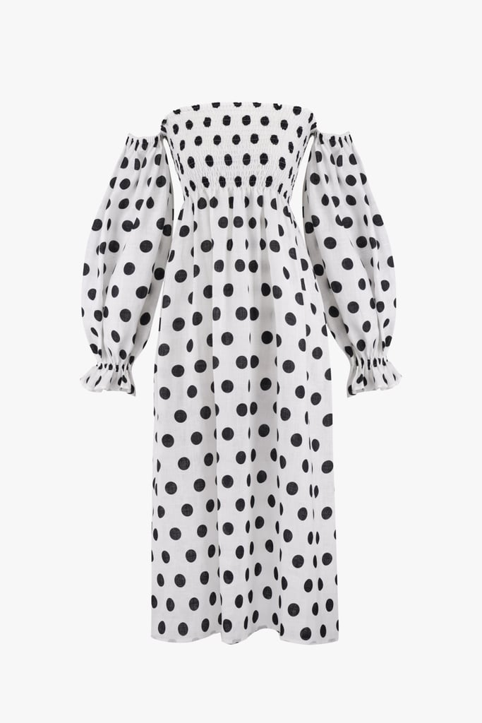 2064bc6e657 Sleeper Atlanta Linen dress in Polka Dot