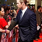 Chris Hemsworth chatted with fans at the premiere of The Avengers in London.
