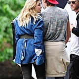 Brooklyn Beckham Actually Visiting the Photo Shoot Set in the Outfit He Wore on the Cover