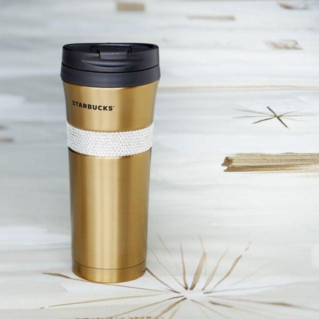 Starbucks Gold Swarovski Tumbler