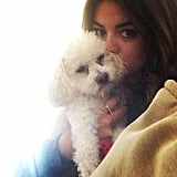 Lucy Hale spent quality time with her cute pooch.