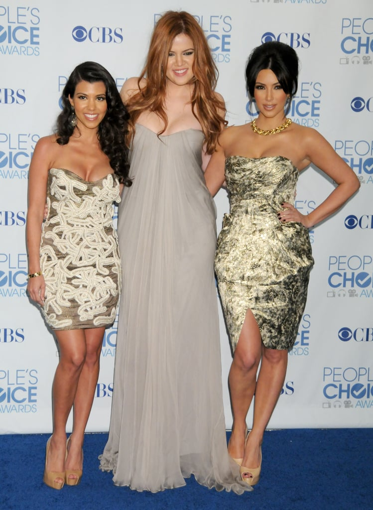Kim, along with Kourtney and Khloé, attended the People's Choice Awards in January 2011.
