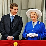 Queen Elizabeth II and Prince William in 2003.