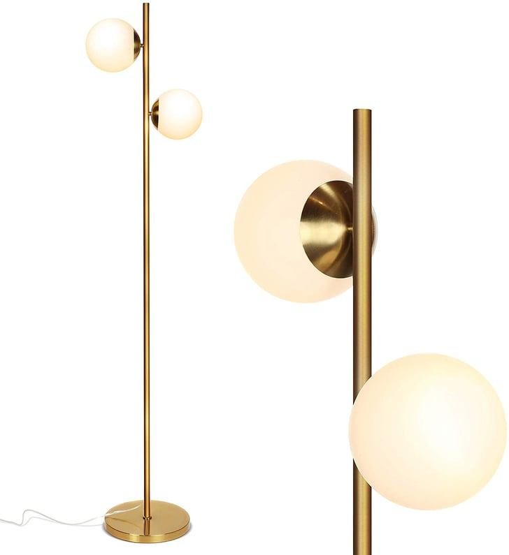 brightech sphere led floor lamp | chic bedroom decor on amazon under $250 | popsugar home photo 10