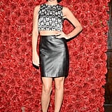 Leigh Lezark was looking rosy at the Barneys Jane Hotel bash.