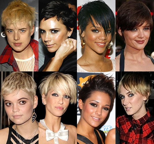 Celebrity Cropped Hair
