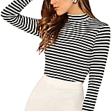 Floerns Striped Long-Sleeved T-Shirt
