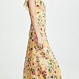 Divine Heritage Pintuck Ruffle Maxi Dress