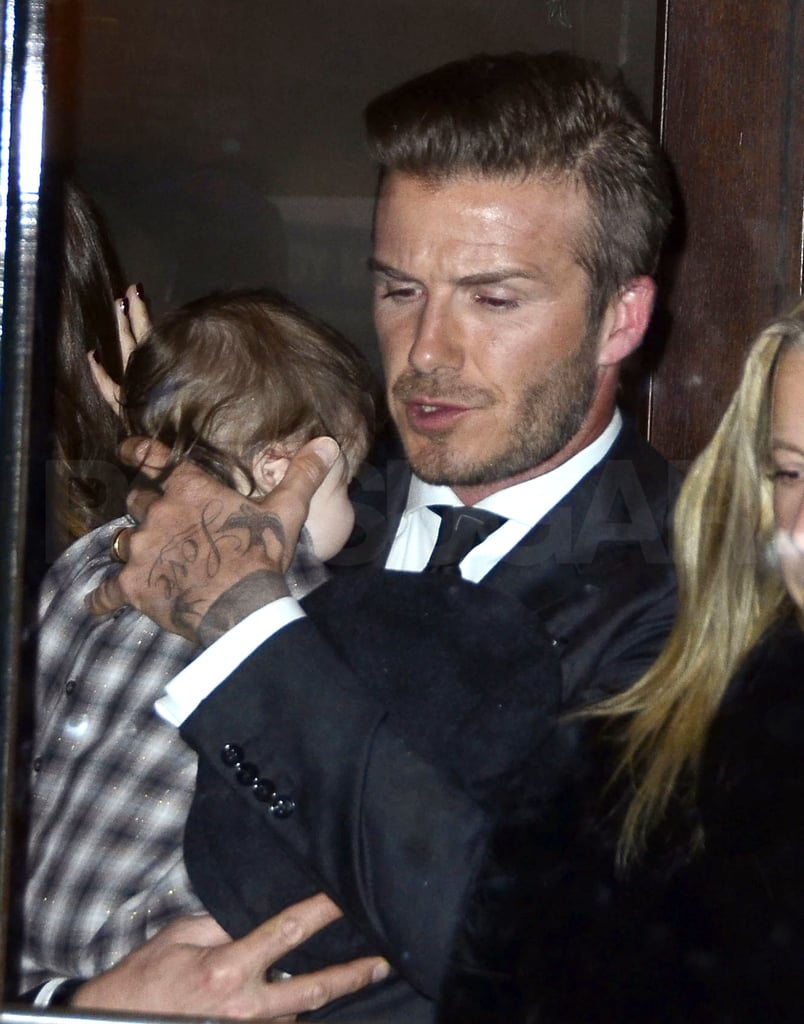 David Beckham and daughter Harper Beckham were together in NYC.